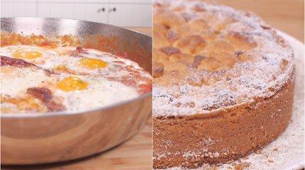 Tingiam savaitgaliui namie – skanioji šakšuka ir karamelinis obuolių pyragas