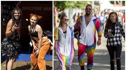 """Išskirtinis """"Devilstone"""" festivalininkų stilius: akį traukė spalvos, tatuiruotės ir ryškus makiažas"""