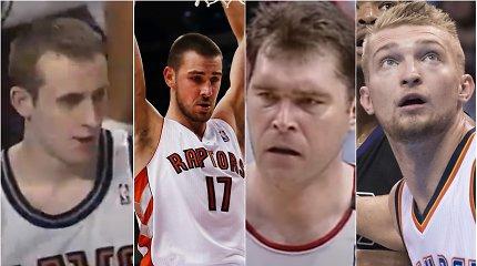 Dvigubi dubliai, prisvilę blynai ir užgožęs LeBronas: kaip NBA debiutavo visi 14 lietuvių?