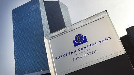 ECB didelių skolų slegiamas euro zonos šalis įspėjo apie riziką