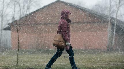 Orai.lt: šią savaitę ir lis, ir snigs