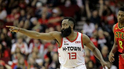 """Fenomenalus J.Hardeno pasirodymas pažymėtas visa griaunančia """"Rockets"""" pergale"""