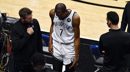 """Košmariškas """"Nets"""" vakaras: K.Duranto trauma ir pralaimėjimas paskutinę sekundę"""