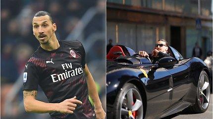 """Prabangų """"Ferrari"""" pademonstravęs Zlatanas įkliuvo – sulauks baudos"""