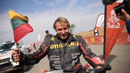 "Laisvydas Kancius po finišo Dakare: ""Fantastika, fantastika!"""