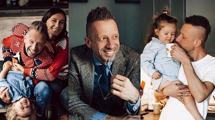 """L.Adomaitis švenčia 45-ąjį gimtadienį: """"Man patinka visos mano profesijos, bet ypač – tėvystė"""""""