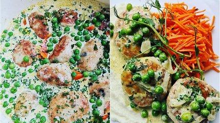 """""""Aurimėlio virtuvės"""" receptas: kalakutienos kotletai, troškinti su įvairiaspalvėmis daržovėmis"""