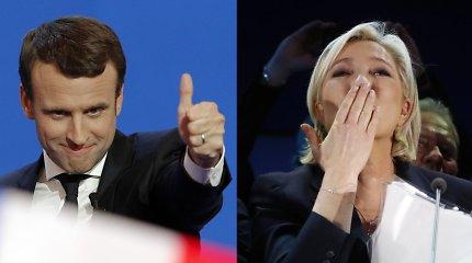 Istoriniai Prancūzijos prezidento rinkimai: antrame ture – E.Macronas ir M.Le Pen