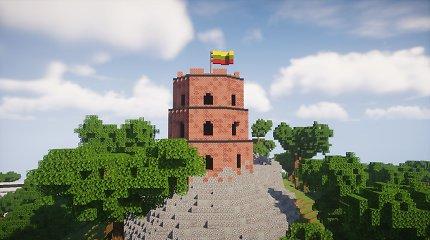 """Žaidime """"Minecraft"""" atgaivintas istorinis Vilniaus vaizdas"""