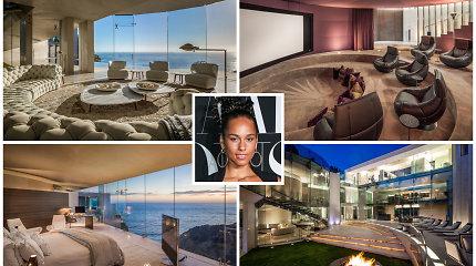 Alicia Keys nusipirko naujus namus: ant skardžio stovintis šedevras kainavo 18,8 mln. eurų