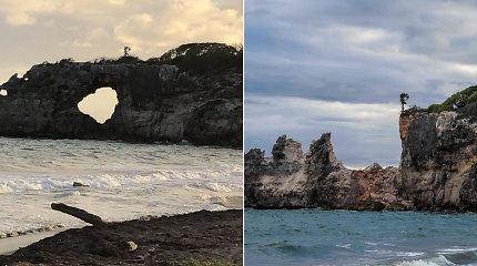 """Griuvo vienas populiariausių gamtos stebuklų – turistai nebegalės aplankyti žymiosios """"Punta Ventana"""" uolos"""