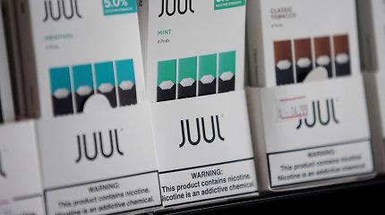 """Kalifornijos valstija ėmėsi priemonių prieš elektroninių cigarečių gamintoją """"Juul"""""""