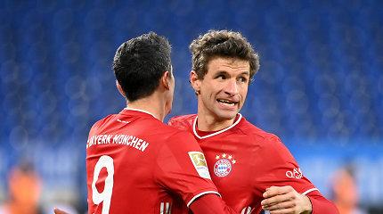 "Miuncheno ""Bayern"" tolsta nuo visų varžovų po pergalės 4:0"