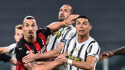 """Triuškinamai """"AC Milan"""" ekipai pralaimėjęs """"Juventus"""" – išstumtas iš pirmojo ketverto"""