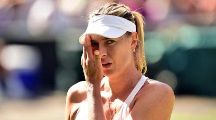 WTA reitingas: A.Kerber ir S.Halep kilo, o M.Šarapova paliko pirmą dešimtuką