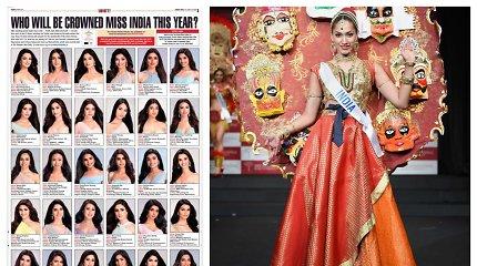 """Grožio konkursas """"Mis Indija"""" sulaukė kritikos: kodėl visos dalyvės atrodo identiškai?"""