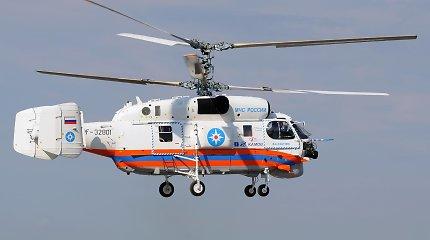 Kaliningrado srityje į Kuršių marias nukritus sraigtasparniui žuvo vienas žmogus
