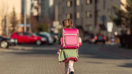 Pareigūnų patarimas tėvams: gatvėje vaikams rodykite pavyzdį