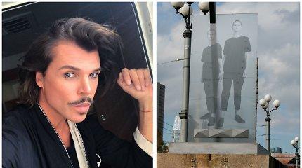 """Juozas Statkevičius sudirbo ant Žaliojo tilto iškilusią meno instaliaciją: """"Susirinkite savo šiukšles"""""""