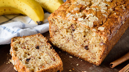 Tiks mažiems ir dideliems: sveikesnė bananų duonos versija