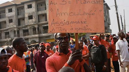 Gvinėjoje per antivyriausybinius protestus žuvo vienas žmogus