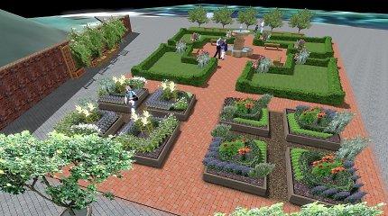 Dar viena susitikimų vieta sostinėje: Valdovų rūmų pašonėje sužaliuos renesansinis sodas