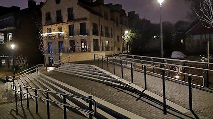 Vilniaus Užupio ir Paupio krantus sujungė naujas pėsčiųjų tiltas