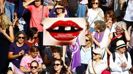 Šveicarijoje – masinės moterų demonstracijos už atlyginimų lygybę