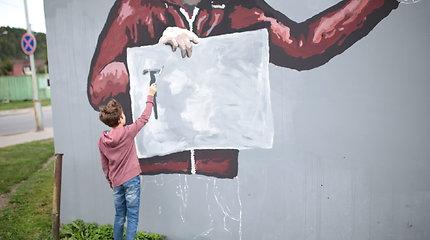 Vienoje judriausių gatvių – netikėtas meno kūrinys ant sienos