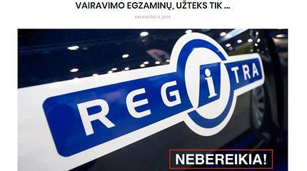 """Regitra"" oficialiai paneigė ""fake news"" apie egzaminus"