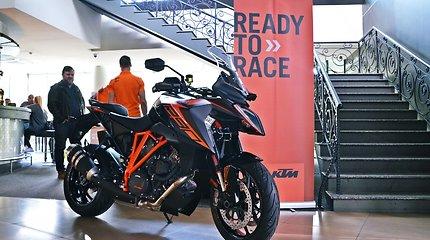 KTM motociklų bandymai Rygoje