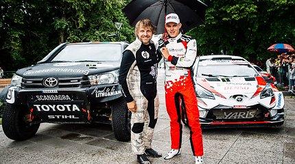"""B.Vanagas """"Rally Estonia"""" žiūrovus džiugino įspūdingais šuoliais"""