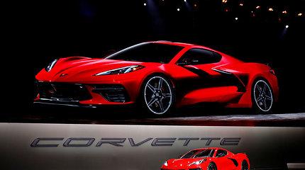 """7 svarbiausi faktai apie naująjį """"Chevrolet Corvette"""": superautomobilio konfigūracija, įspūdingi skaičiai"""