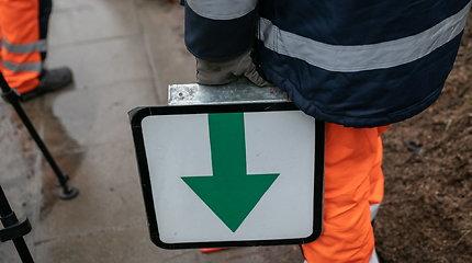Į Vilniaus sankryžas grąžinamos lentelės su žaliomis rodyklėmis