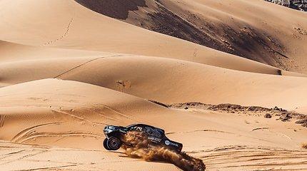 Benediktas Vanagas ir Filipe Palmeiro Dakaro ralyje 2021 m.