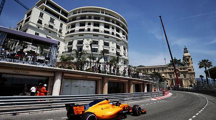 """Formulės 1"" Monako GP kvalifikacijoje nugalėjo Danielis Ricciardo"