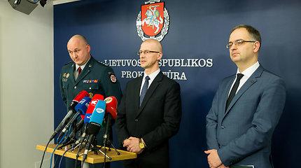 Spaudos konferencija apie sulaikytus asmenis, rinkusius informaciją Rusijos žvalgybai