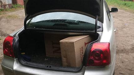 Pogrindinės prekybos meistras Kaune sulaikytas darbymečio įkarštyje