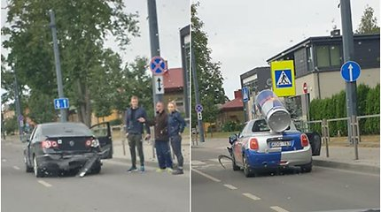 """Kaune į avariją pateko """"Red Bull"""" automobilis"""