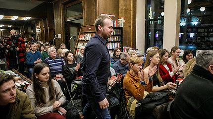 """""""Kabinetas 339"""" knygos autoriai Dovydas Pancerovas ir Birutė Davidonytė susitiko su kauniečiais"""