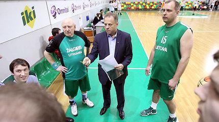 Šventiniame krepšinio turnyre į aikštelę išbėgo Arvydas Sabonis