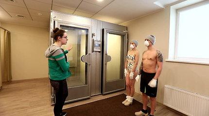Išbandymas drąsiems: ką jaučia kūnas patekęs į -120 laipsnių šaltį?