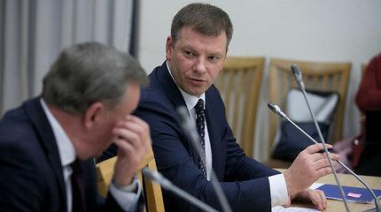 Lietuvos socialdemokratų darbo frakcijoje lankėsi finansų ministras Vilius Šapoka