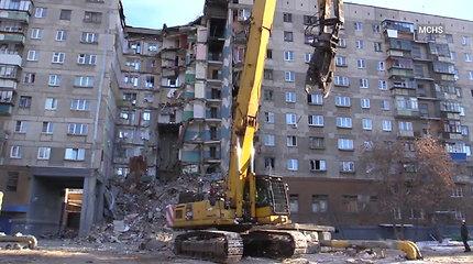 Rusijoje per sprogimą sugriuvusio daugiabučio griuvėsiuose ieškoma dar 4 dingusių žmonių