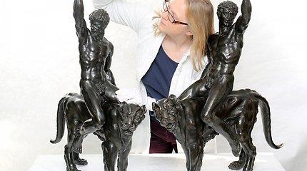 Vienintelės išlikę Michelangelo bronzos skulptūros – ant panterų jojantys vyrai