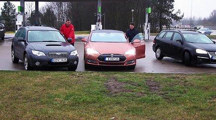 "15min eksperimentas: ar ""Tesla"" padėtų aplenkti sostinės Ukmergės g. spūstis?"