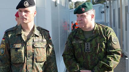 Angela Merkel Rukloje aplankė Vokietijos karius