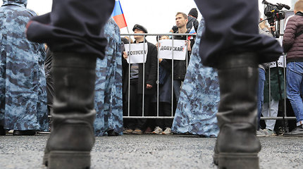 Vilniuje vyko Rusijos opozicijos rėmėjų protestų palaikymo akcija