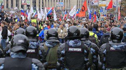 Opozicijos mitingas Maskvoje baigėsi be incidentų