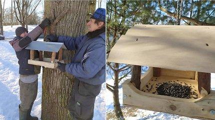 Graži iniciatyva – Kėdainių miesto parke galite lesinti paukštelius